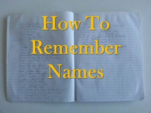 How To Remember Names