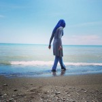 Hijab on the beach